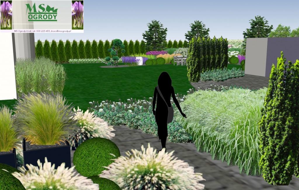 Projektowanie ogrodów Łódź - MS Ogrody - wizualizacje ogrodów  Łódź łódzkie