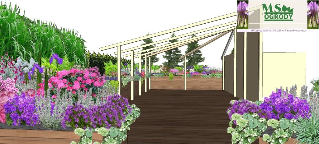 Wizualizacje ogrodów - projektowanie ogrodów - aranżacja tarasów - MS Ogrody Łódź