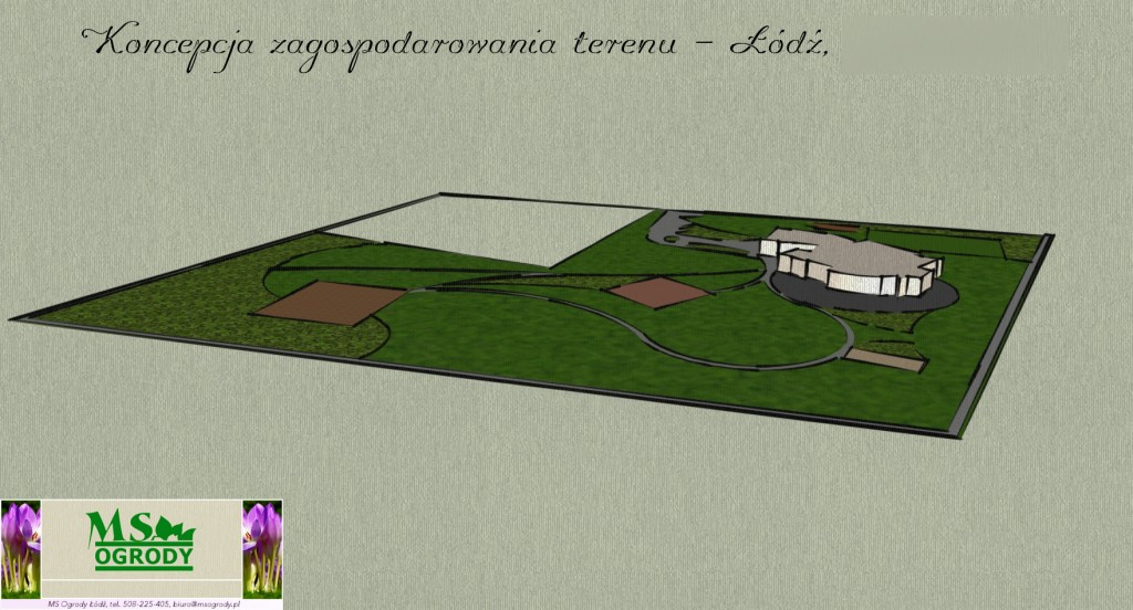 Projektowanie ogrodów - wizualizacja ogrodu - projekty ogrodów łódzkie - MS Ogrody Łódź